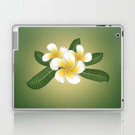 White plumeria Laptop & iPad Skin