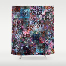 Galaxy Quilt Shower Curtain