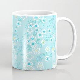 Forget Me Knot - Little Flowers on aqua Coffee Mug