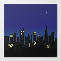 cityscape Canvas Prints featuring Cityscape by Jozi
