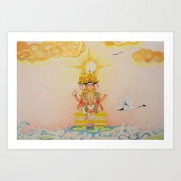 Grew From A Lotus Art Print