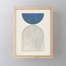 Arch Balance Blue Framed Mini Art Print
