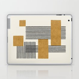 Stripes and Square Composition - Abstract Laptop & iPad Skin