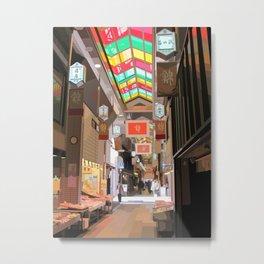 Nishiki Market [Kyoto, Japan] Metal Print