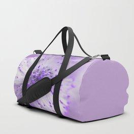 Purple flower macro 091 Duffle Bag