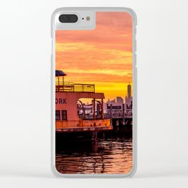 Ferry Boat John F. Kennedy Clear iPhone Case