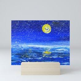 Ocean at Night Mini Art Print