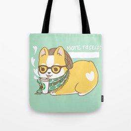 Hipster Corgi Tote Bag