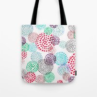 bubbles Tote Bags featuring Bubbles by Snehal Jain
