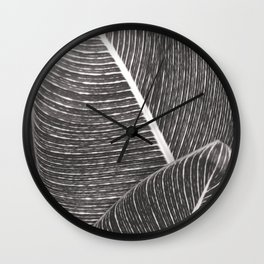 Tropical Leaves No1 Wall Clock