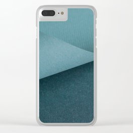 Folded paper waves Clear iPhone Case