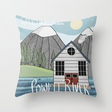 Greetings from Powell River w/Text Throw Pillow