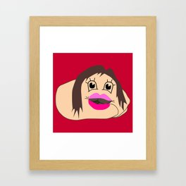 Taco Flavored Kisses Framed Art Print