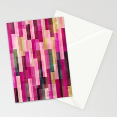 Pinks and Parallels Stationery Cards