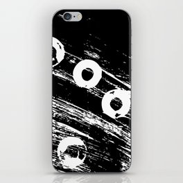 Distressed circles iPhone Skin