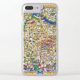 ANN ARBOR University map MICHIGAN dorm Clear iPhone Case