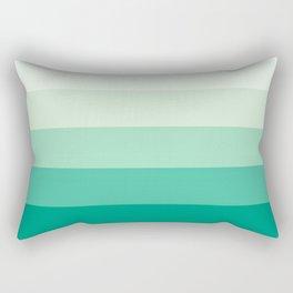 Pastel Green Stripes Rectangular Pillow