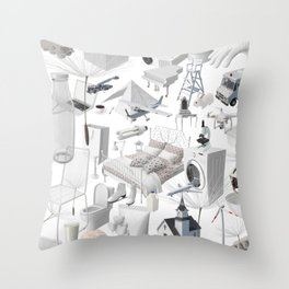 Cracking The White Objects Code Throw Pillow