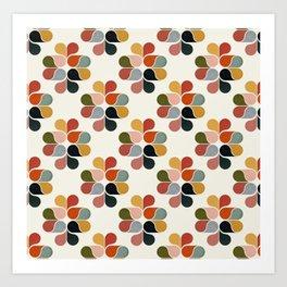 Retro geometry pattern Art Print