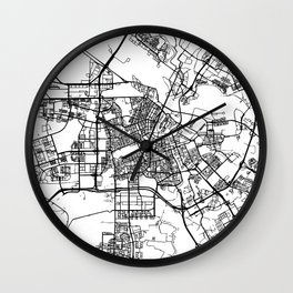 AMSTERDAM NETHERLANDS BLACK CITY STREET MAP ART Wall Clock