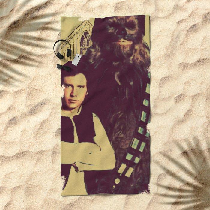 Chewbacca & Han Solo - American Gothic Beach Towel