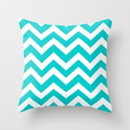 Robin egg blue - heavenly color - Zigzag Chevron Pattern Throw Pillow