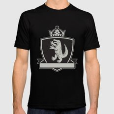 Gator Standing Side Coat of Arms Crest Retro Black Mens Fitted Tee MEDIUM