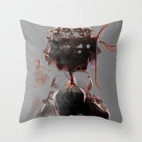 gemini Throw Pillows featuring Gemini by Jyri Straechav