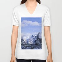 yosemite V-neck T-shirts featuring Yosemite by Ian Bevington