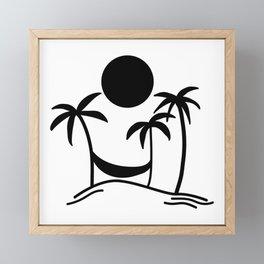 Hammock Hangout Framed Mini Art Print