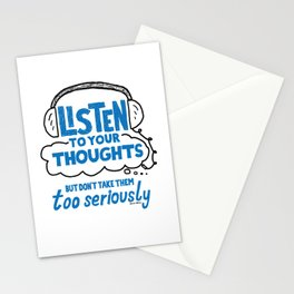 Listen To Your Thoughts Stationery Cards