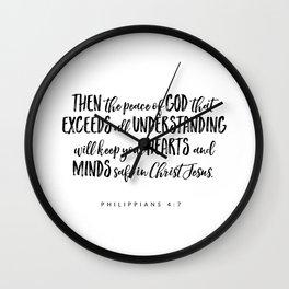Philippians 4:7 Bible Verse Wall Clock