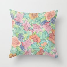 Southwestern Floral  Throw Pillow