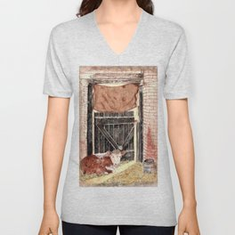 Stable Door Inside Unisex V-Neck