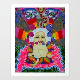 Buddha in Bloom Art Print