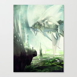 Waiting for the last launch Canvas Print