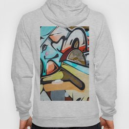 Graffiti blue cyan woman abstract impressionist street art colorful red gray yellow spraypaint urban Hoody