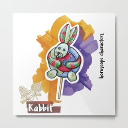 Rabbit horoscope Metal Print
