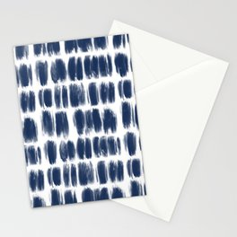 Abstract blue brushstrokes pattern Stationery Cards