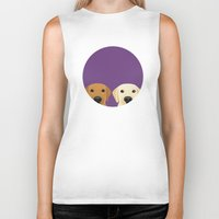 lab Biker Tanks featuring Tan Lab & Yellow Lab by Anne Was Here