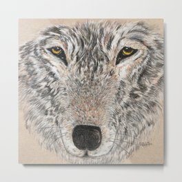 abstract wolf Metal Print
