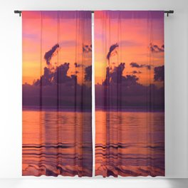 Spectacular Sunset in Tropical Tahiti Blackout Curtain