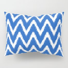 Sapphire Asian Moods Ikat Chevrons Pillow Sham