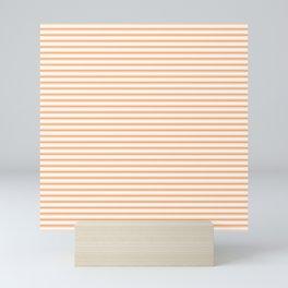 Bright Orange Russet Mattress Ticking Narrow Striped Pattern - Fall Fashion 2018 Mini Art Print