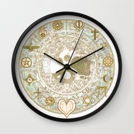 Let Love Be the Foundation Wall Clock