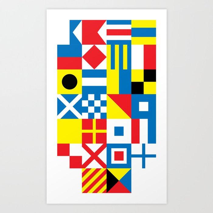 International Alphabetical Marine Signal Flags Art Print