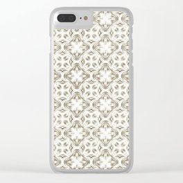Shadows of Brown Clear iPhone Case