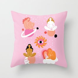 separate but together Throw Pillow