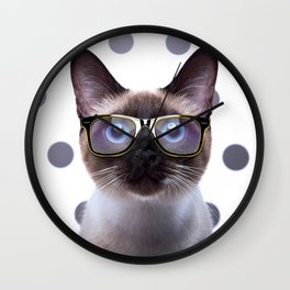 Geometry Class Kitty Wall Clock