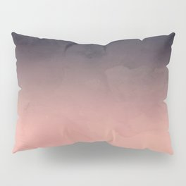 Modern abstract dark navy blue peach watercolor ombre gradient Pillow Sham